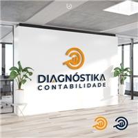 DIAGNÓSTIKA CONTABILIDADE ADMINISTRAÇÃO EMPRESARIAL EIRELI, Logo e Cartao de Visita, Contabilidade & Finanças
