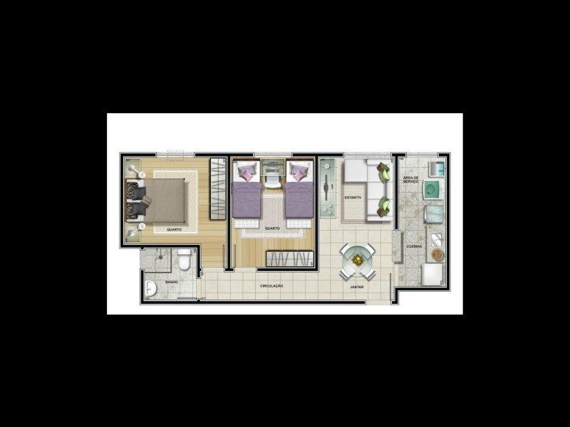 Apartamento à venda Santa Candida com 50m² e 2 quartos por R$ 240.000 - 178792427-3.jpg