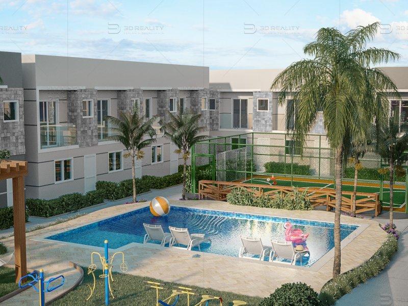 Casa de condomínio à venda Jardim Luciana com 63m² e 2 quartos por R$ 209.817 - 801737607-ima-villagio-padova-quadra-piscina-r00.jpg