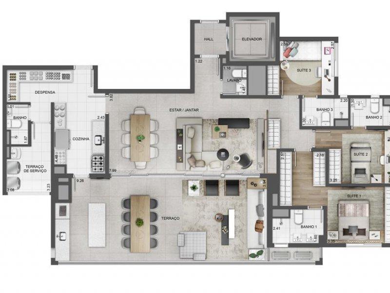 Apartamento à venda Tatuapé com 164m² e 3 quartos por R$ 1.664.000 - 877938360-sky3.jpg