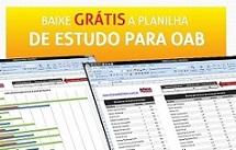 Baixe Gratuitamente planilha de Estudos para Exame de Ordem - OAB