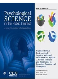 Artigo científico revista Psychological Science in the Public Interest
