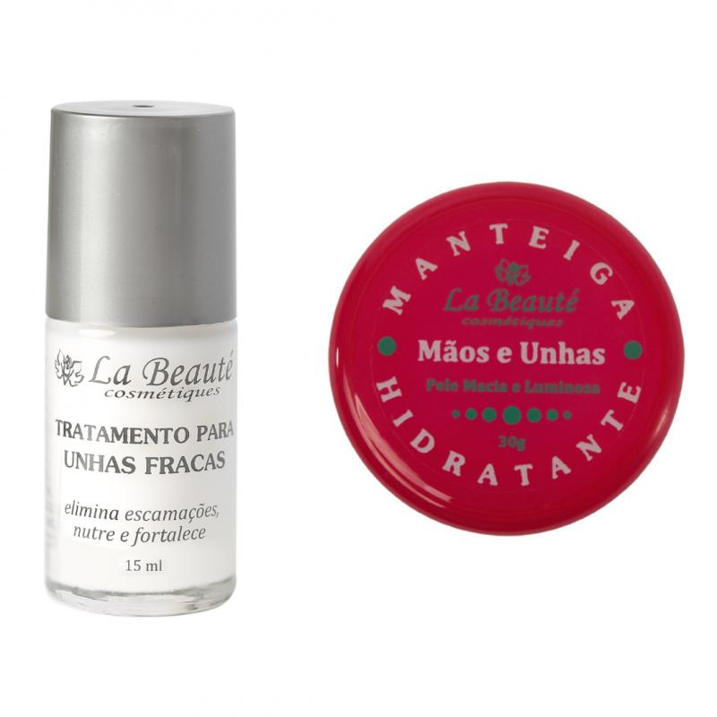 Kit - 1 Tratamento para Unhas Fracas + 1 Manteiga Hidratante para Mãos La Beauté Cosmétiques