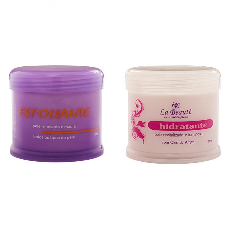 Kit - 1 Creme Esfoliante 500g + 1 Creme Hidratante 500g La Beauté Cosmétiques