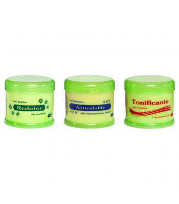Kit - 1 Creme Redutor 500g + 1 Creme Anti Celulite 500g + 1 Creme Tonificante 500g La Beauté Cosmétiques