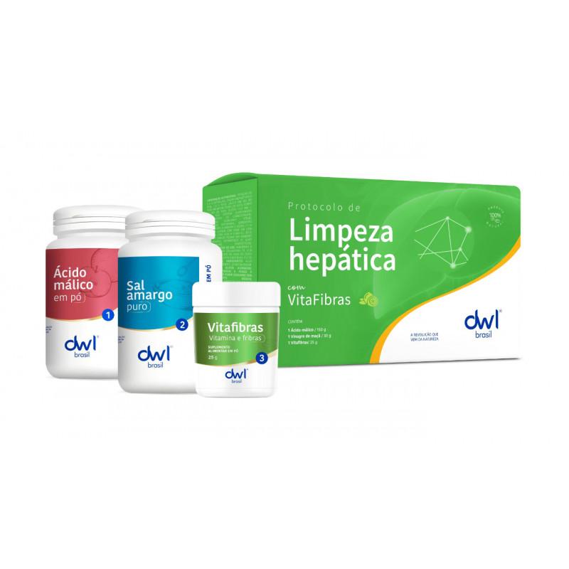 KIT LIMPEZA HEPÁTICA + VITAFIBRAS, rende 02 limpezas.