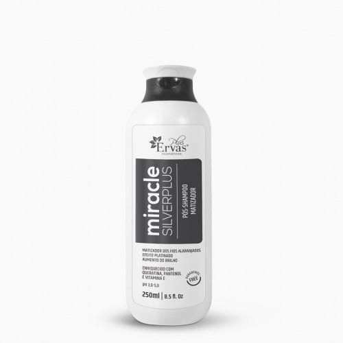 Pós Shampoo Matizador Silver Plus Miracle – Home Care de 250g