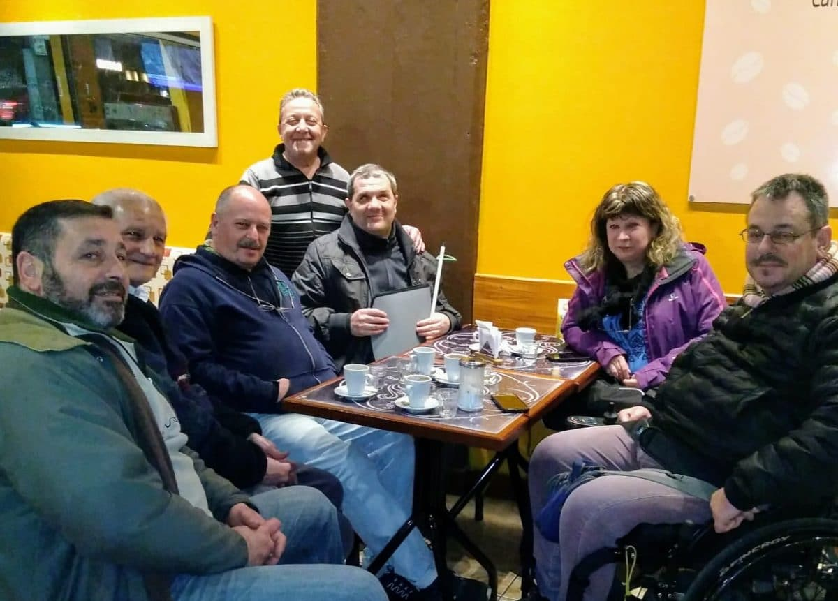 Foto: Carlos Mattos, Francisco Montanelli, Carlos Junco, Pablo Aceto, Gloria Alvarez, Rodrigo Romera y Gabriel Lalli.