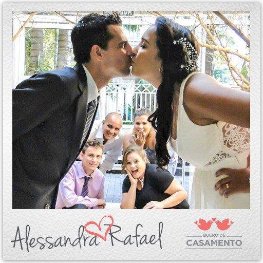 Nossos casamento Alessandra e Rafael