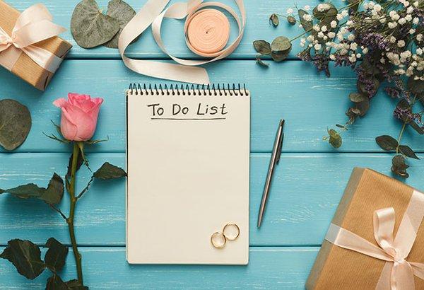 Checklist: 6 meses a 1 ano antes do casamento!