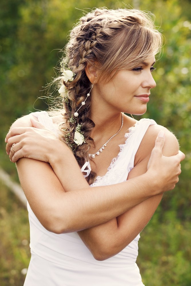 cabelo noiva lateral com trança