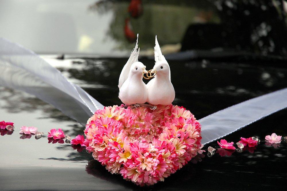 carro da noiva decoração