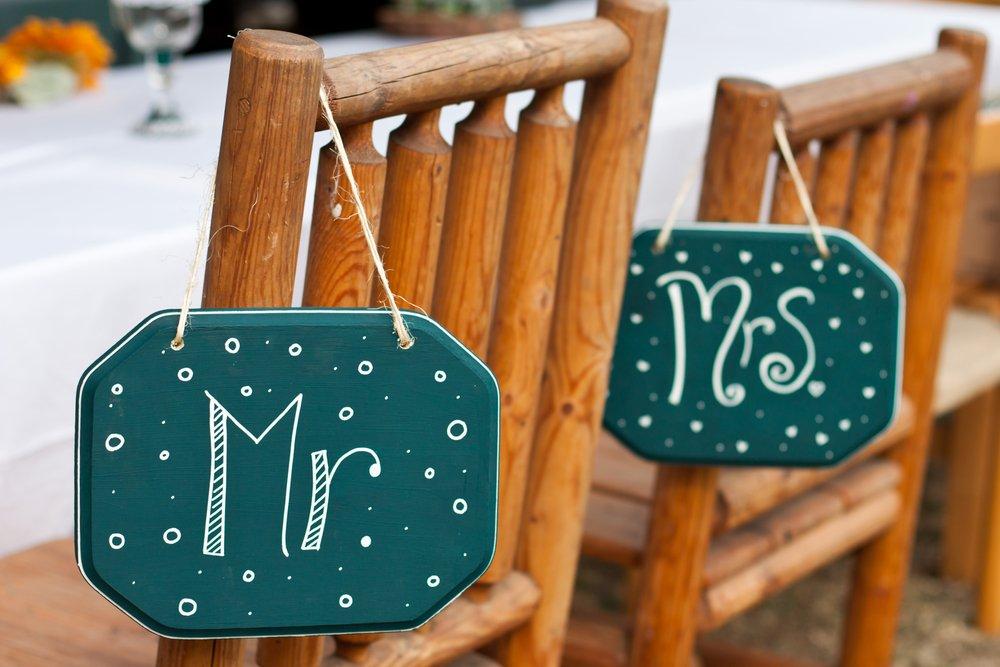 decoração de cadeira de casamento