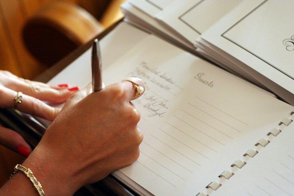 fazendo lista de casamento