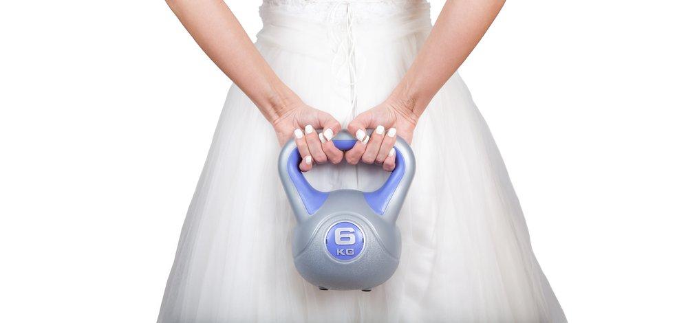 noiva em forma hora do sim