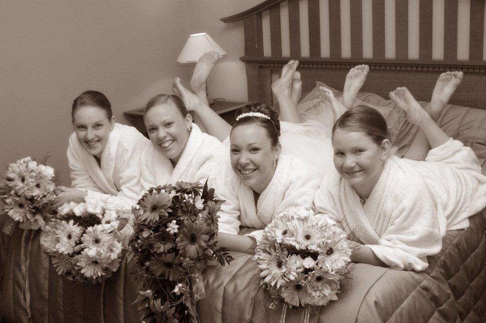 madrinhas de casamento com noiva