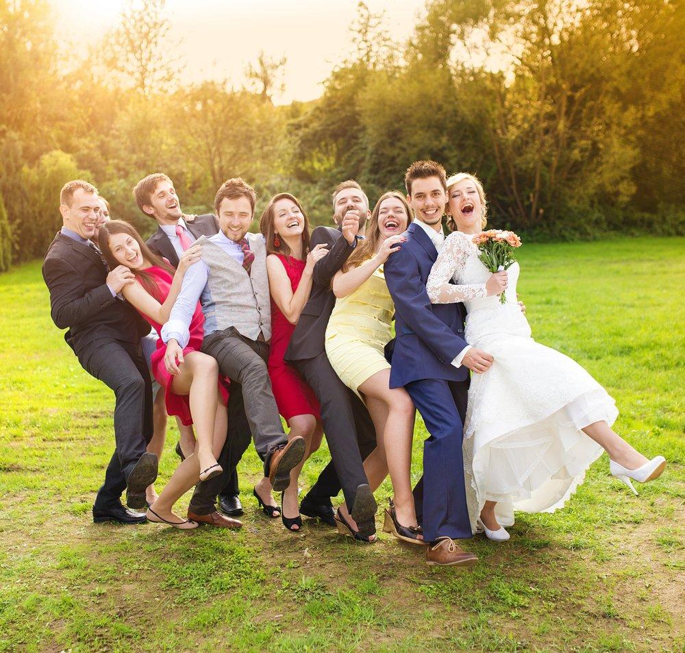 amigos dos noivos casamento