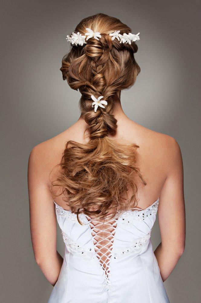 cabelo para noivas com trança