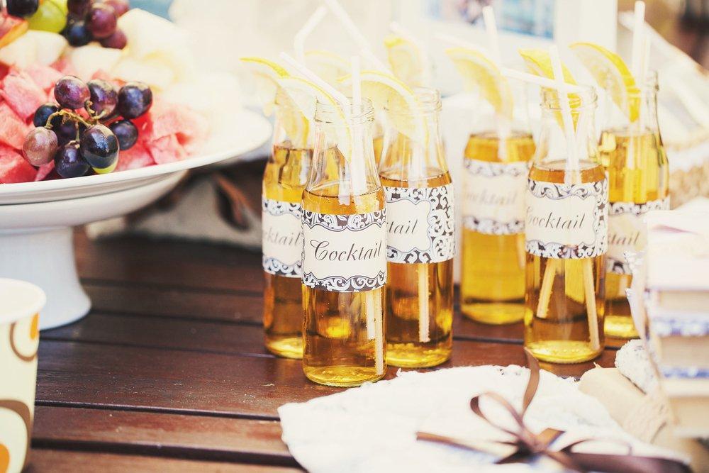 tendencia de casamento bebida personalizada