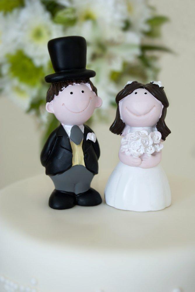 topo de bolo de casamento biscuit