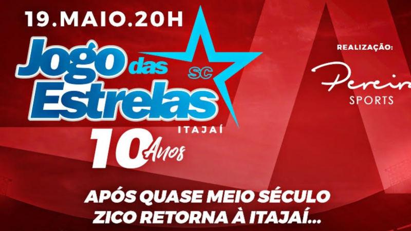 Grandes estrelas do futebol estarão em Itajaí no dia 19 de maio!