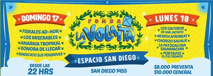 Afiche de Fonda La Volaita 2017