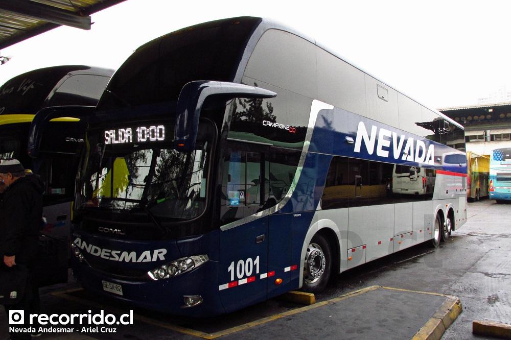 1001 - nevada - andesmar chile - campione dd - salón cama - terminal sur - santiago - mendoza - chile - argentina - gzsx82 - volvo