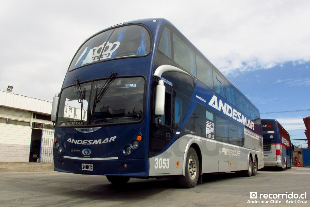 Bus de Andesmar Argentina en el taller