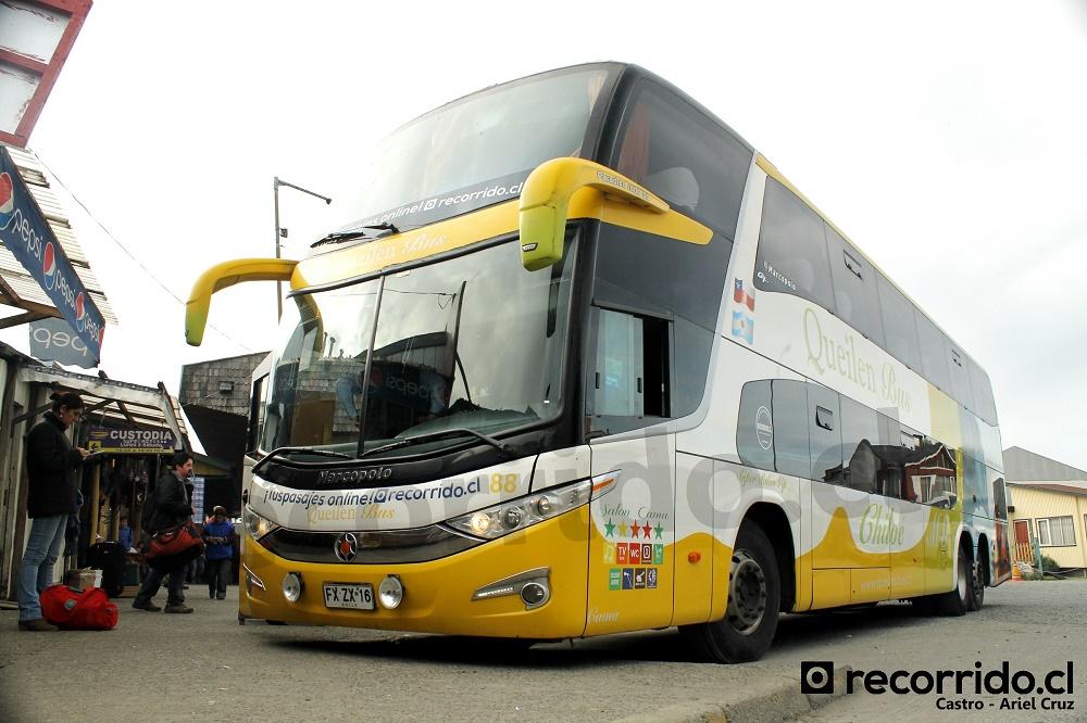 queilen bus - 88 - paradiso 1800 dd g7 - fxzx16 - recorridocl - castro - salón cama