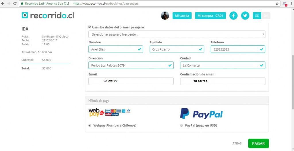 Pagar Webpay