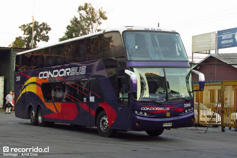 2000 - condor bus - tur bus - panorâmico dd - terminal sur - bbsx34 - rengo
