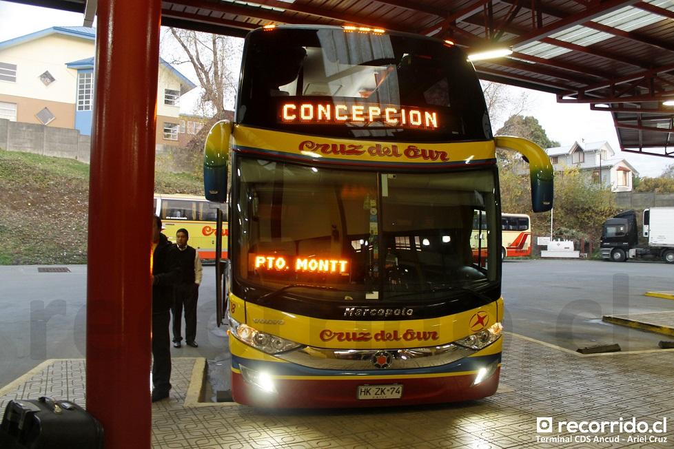 718 - hkzk74 - cruz del sur - paradiso 1800 dd - ancud - volvo - terminal