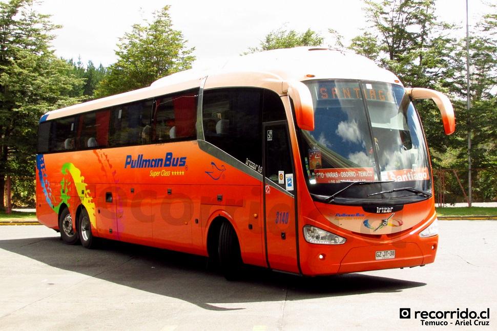 pullman bus - irizar i6 - volvo - temuco - 3140 - gzjt38 - volvo