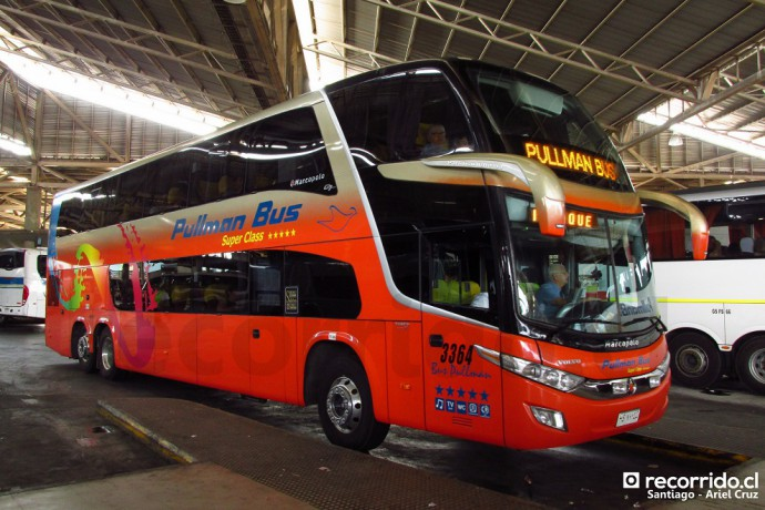 pullman bus 3364 - hsxy10 - paradiso 1800 dd - volvo - terminal san borja