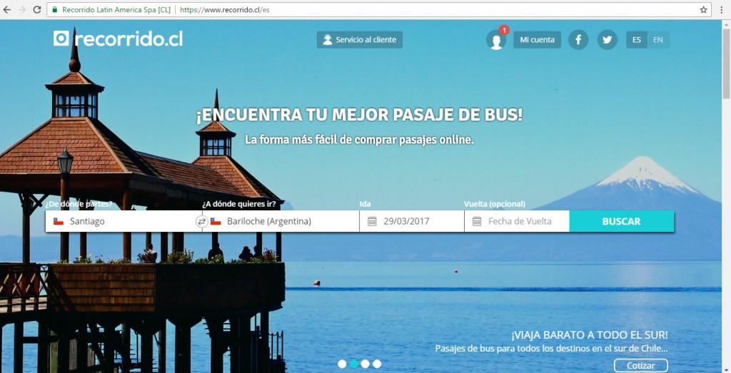 Venta de pasajes online con www.recorrido.cl