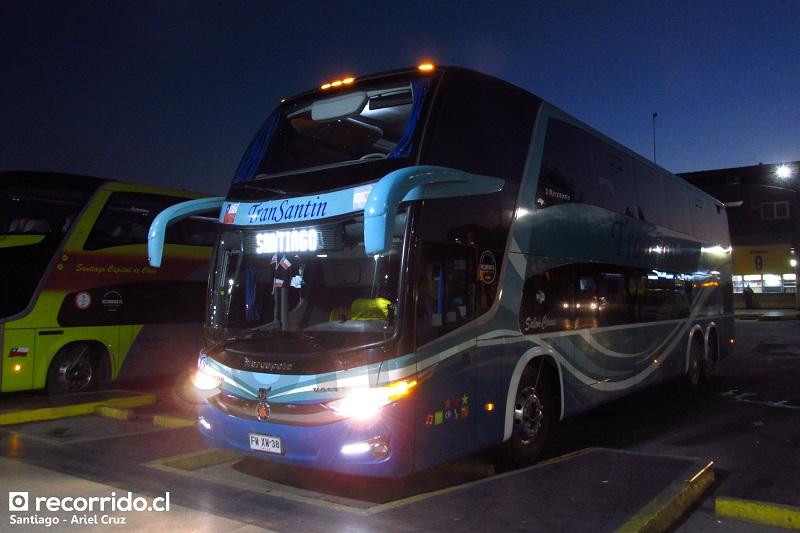 fwxw38 - transantin - salón cama - paradiso 1800 dd g7 volvo - 38 - terminal sur - santiago - lanco - valdivia - futrono - llifén