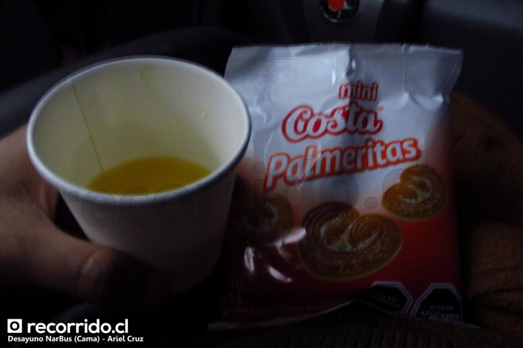 desayuno - jugo - galletas palmeritas - jjjc46 - narbus - paradiso 1800 dd scania acc - 361 - cama