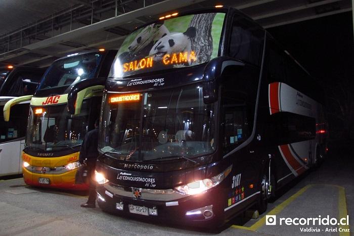 gpgg17 - 3187 - pullman bus - los conquistadores del sur - paradiso 1800 dd g7 - valdivia - jac - 7683 - fjwt78