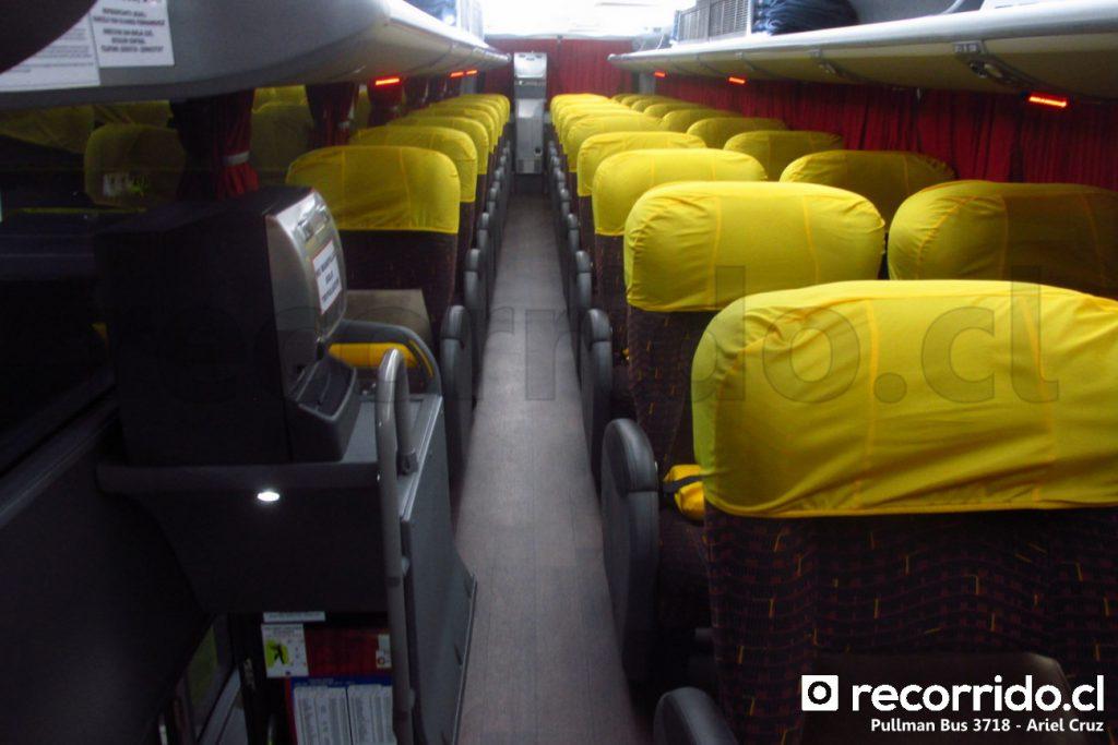 Bus Salón Cama completo de Pullman Bus en servicio Concepción - Las Condes