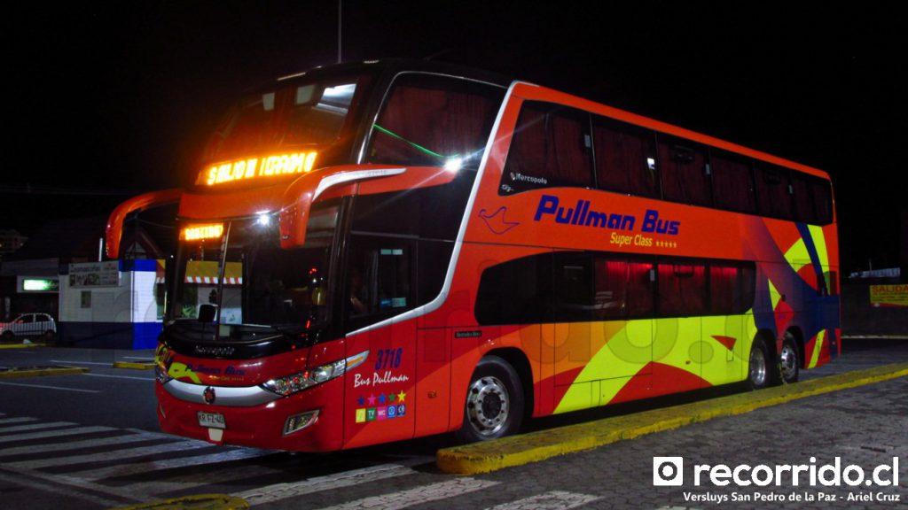 Pullman Bus 3718 en San Pedro de la Paz esperando pasajeros