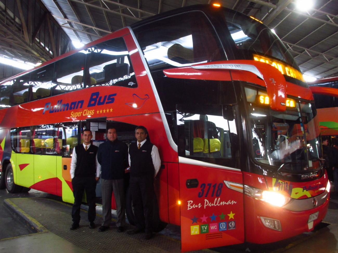 Tripulación Pullman Bus 3718