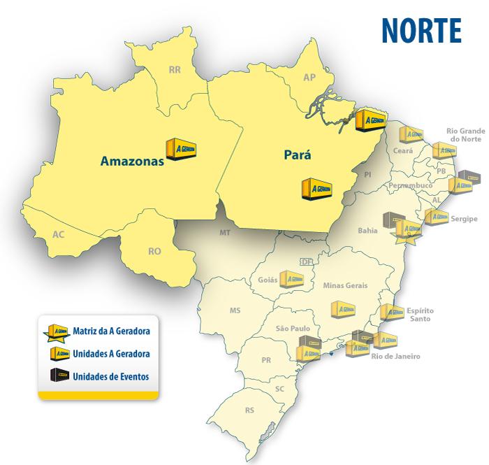 •Belém •Manaus •Parauapebas