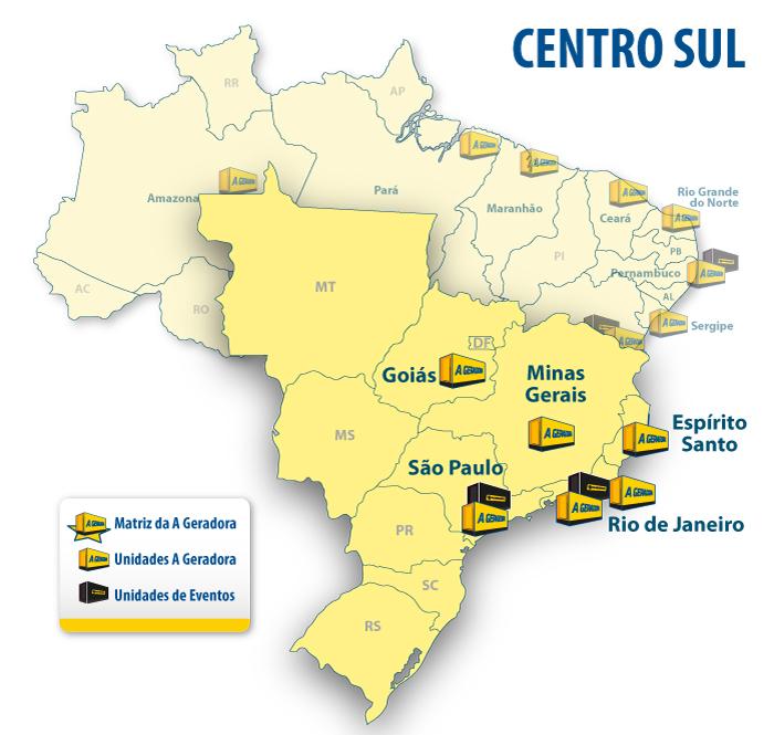•Belo Horizonte •Goiânia  •Macaé  •Rio de Janeiro •São Paulo  •Vitória