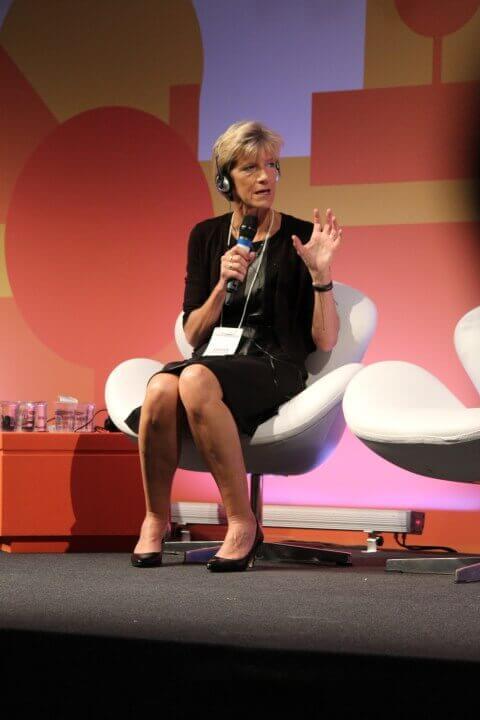 Palestrante Susan Sheridan no Seminário Internacional de Avaliação Econômica