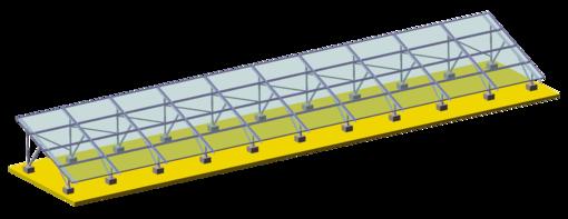 Kit Estrutura de Fixação para Solo (1PC) AS - Renovigi