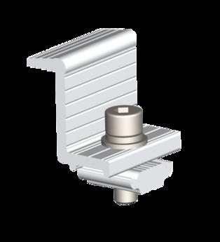 Kit Grampo Final para Estrutura de Solo (2PCS - 35mm)  AS - Renovigi