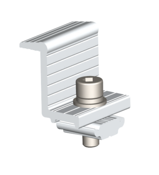Kit Grampo Final para Estrutura de Solo  (2PCS - 40mm) AS - Renovigi