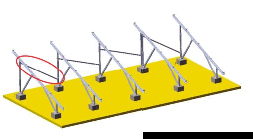 Barra Transversal para Estrutura de Solo  AS (1PC) - Renovigi
