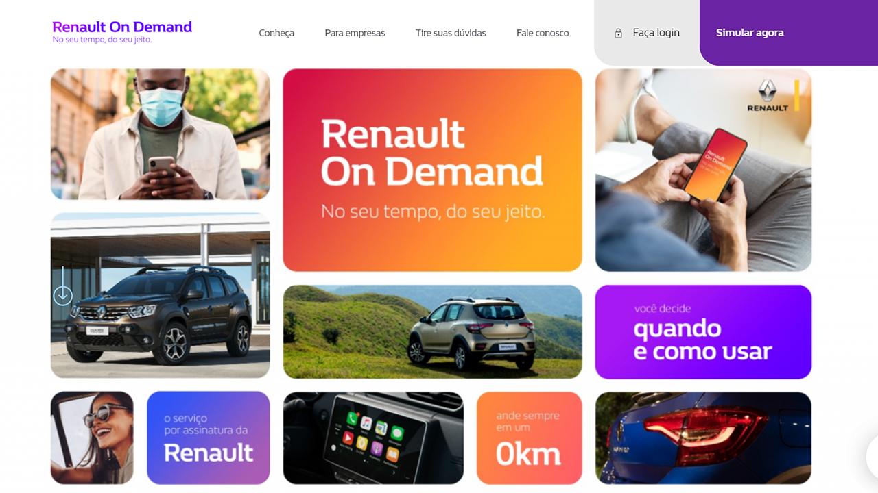 Renault On Demand oferece Kwid, Stepway e Duster em contratos de 12, 18 e 24 meses, com planos de 1.000, 1.500 e 2.000 km