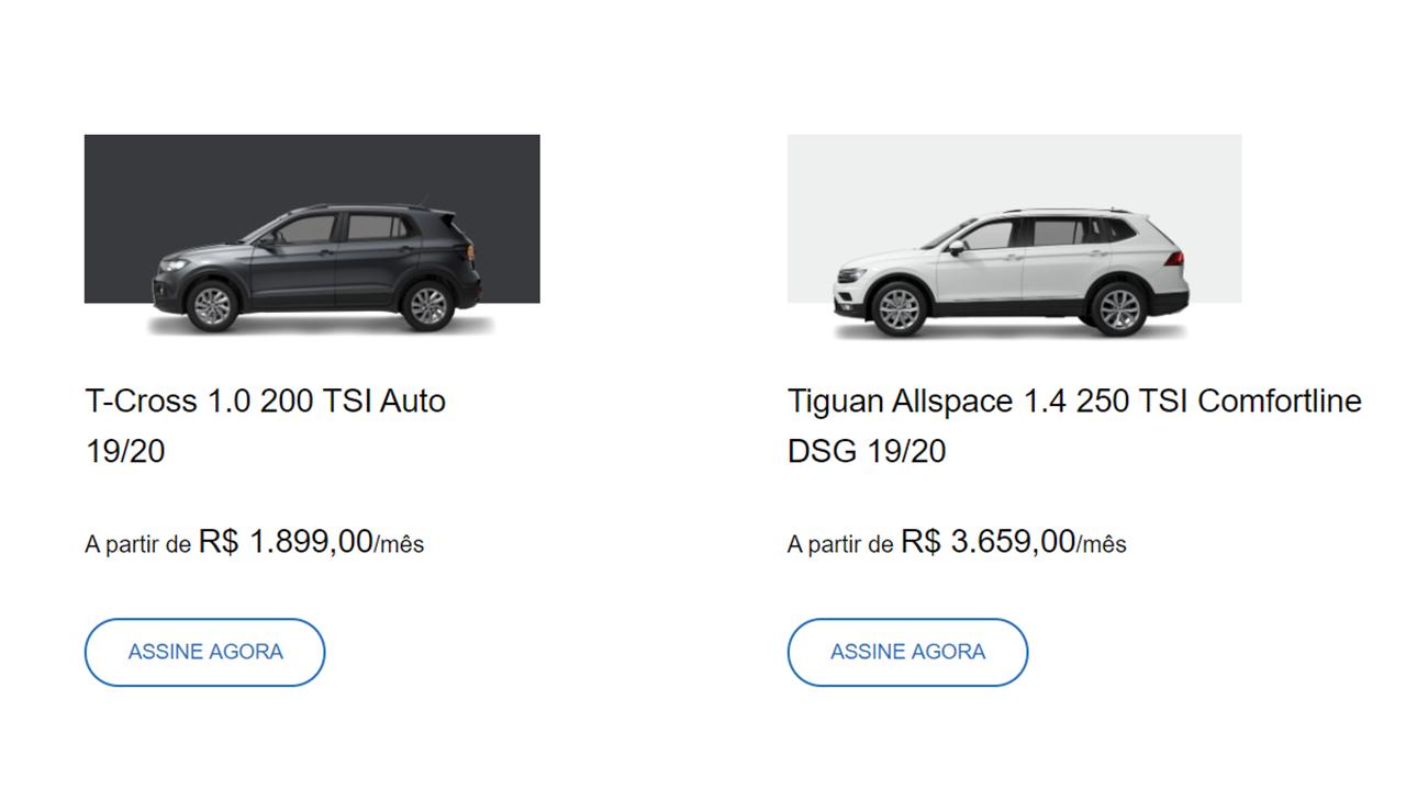 Marca oferece SUVs por assinatura com mensalidades mais baratas que parcela de financiamento e que incluem seguro e manutenção
